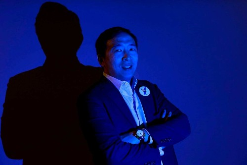 Who is that guy? Andrew Yang's presidential campaign draws crowds, money and an expected spot on the Democratic debate stage.