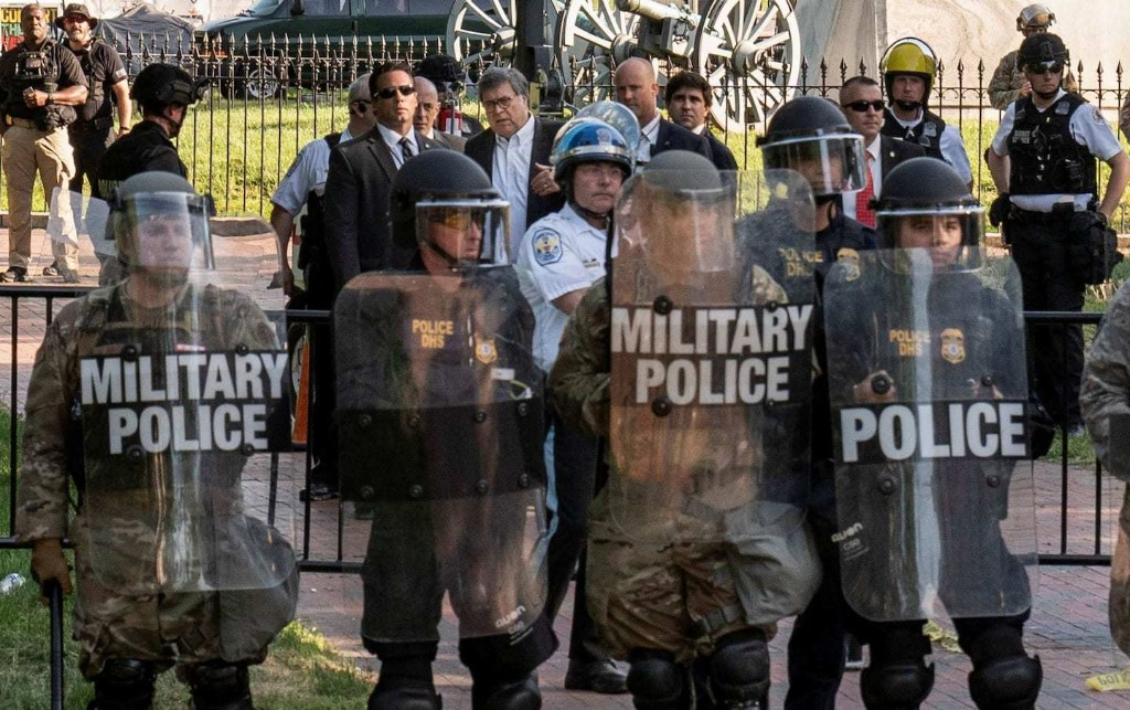 Barr personally ordered removal of protesters near White House, leading to use of force against largely peaceful crowd