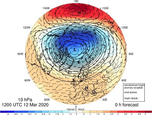 The demise of the polar vortex could spell weather surprises this spring
