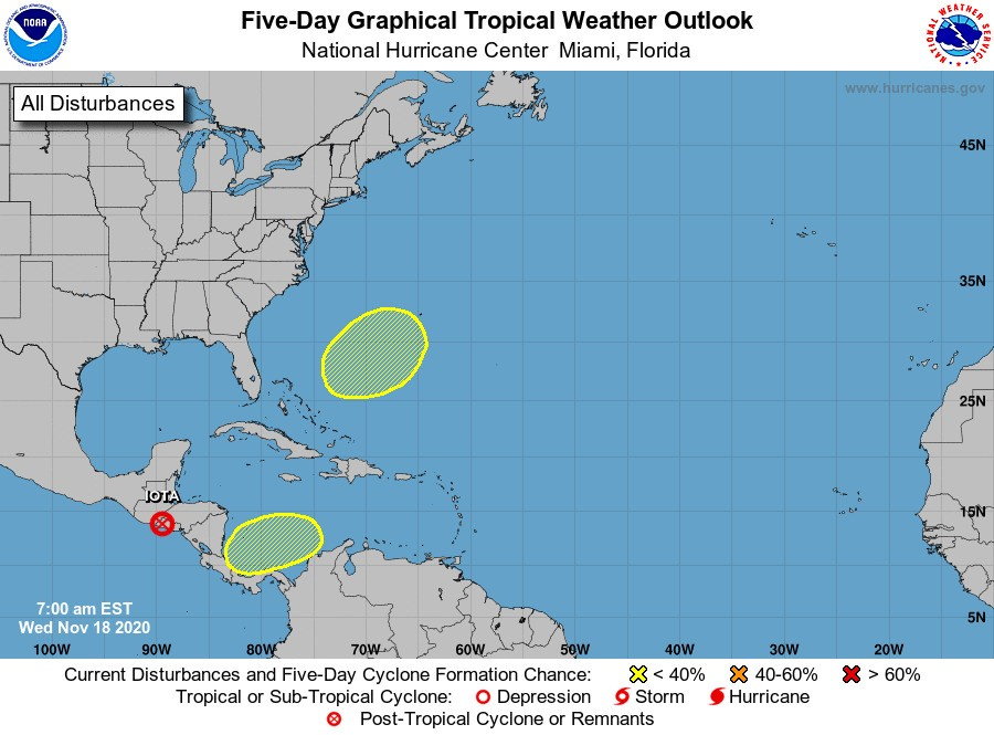 There's still no clear end to the 2020 Atlantic hurricane season