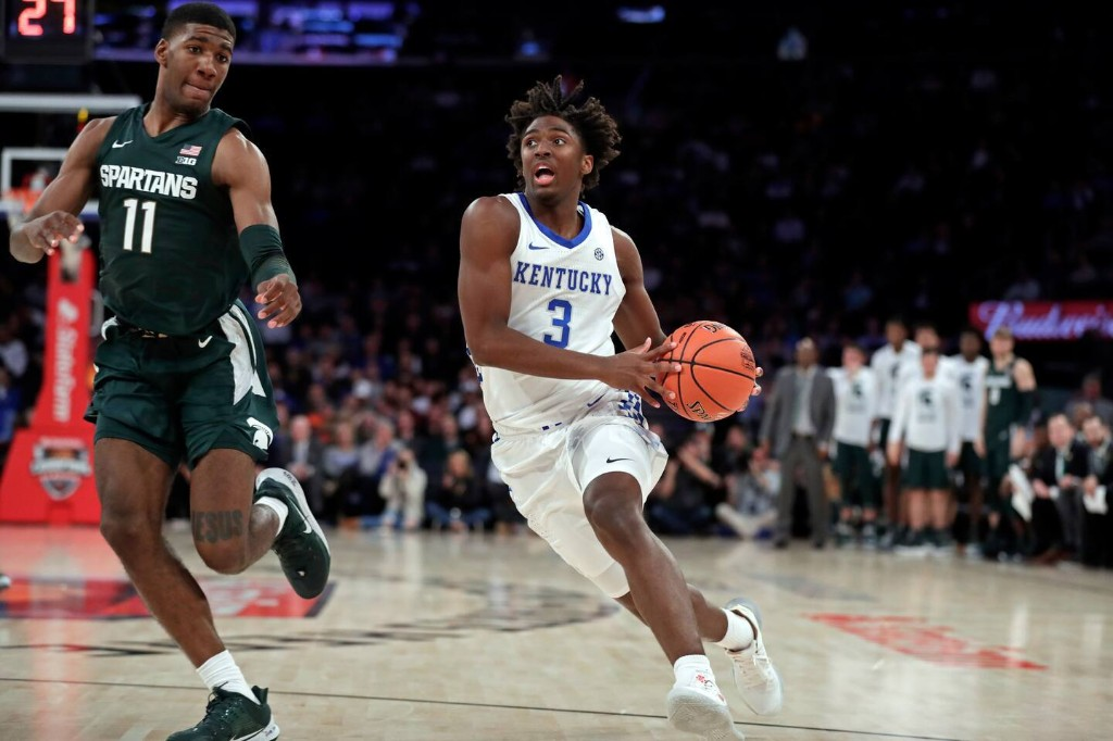 On college basketball's opening night in New York, a precocious Wildcat steals the show