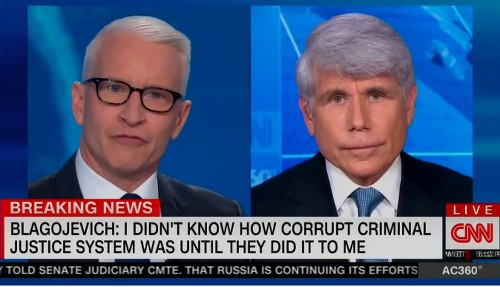 Rod Blagojevich called himself a 'political prisoner.' Anderson Cooper wasn't having it.