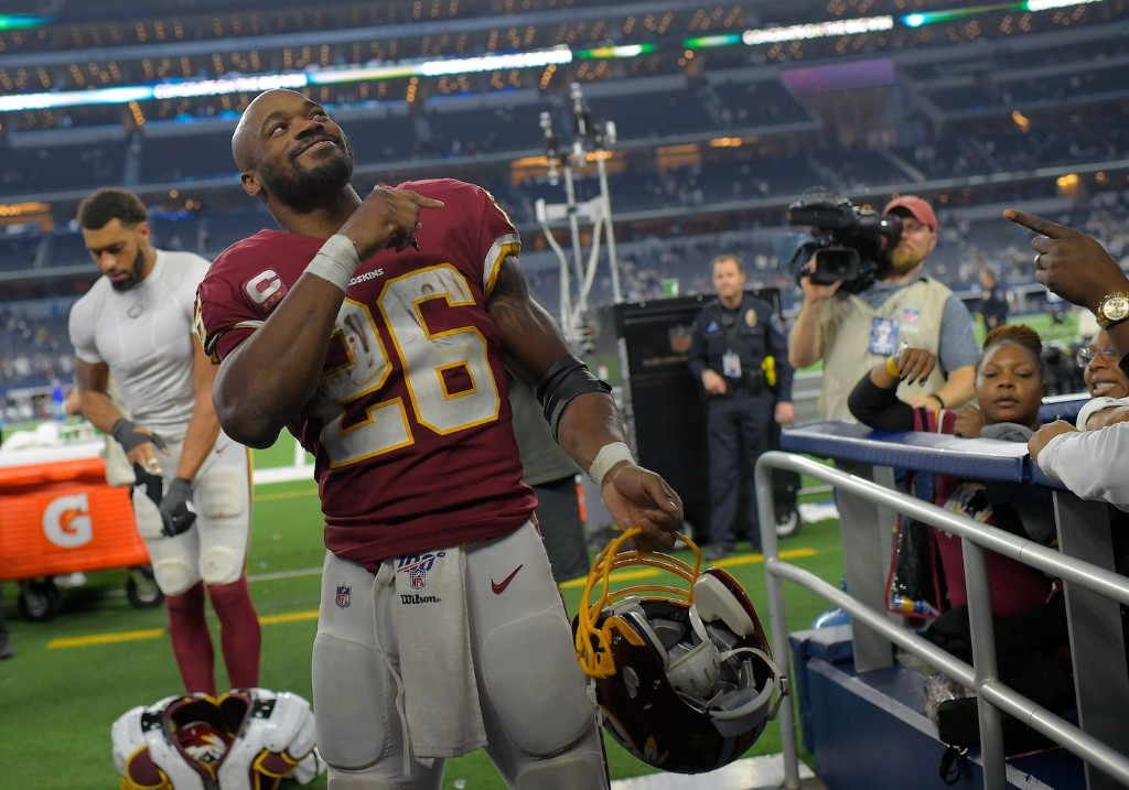 Adrian Peterson says Redskins are better despite Trent Williams trade, welcomes new running backs