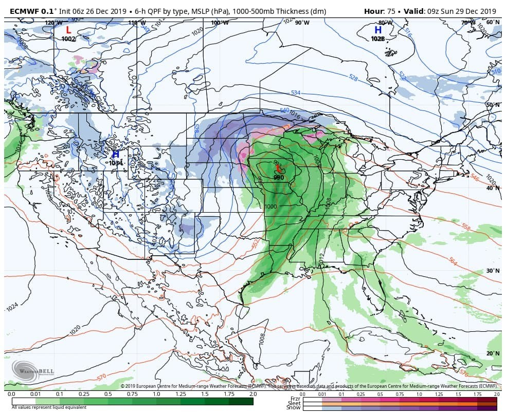 Big California storm to whip up travel trouble in the central U.S. this weekend