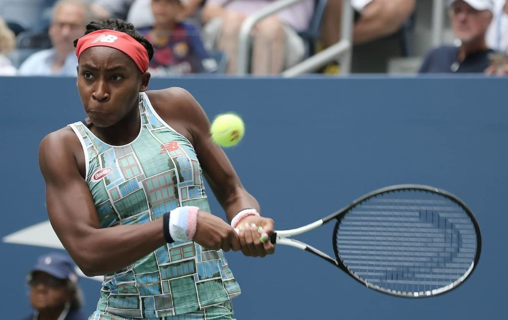 Coco Gauff, looking unflappable in her U.S. Open debut, rallies to a three-set win