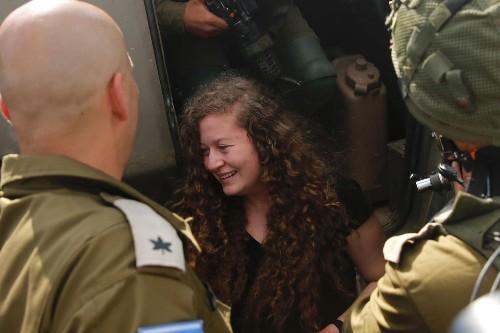 Palestinian teen protest icon Ahed al-Tamimi leaves Israeli prison