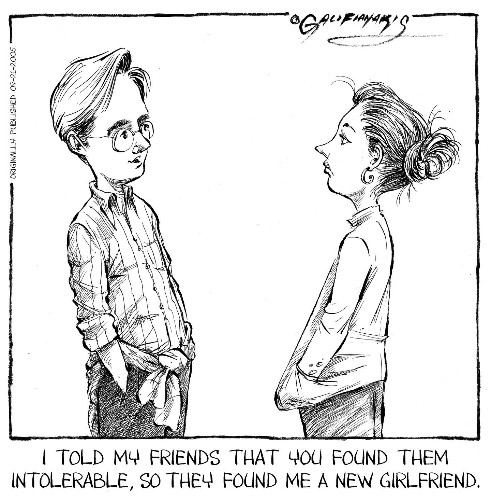 Carolyn Hax: His girlfriend and friend don't see eye to eye (and he has blinders on)