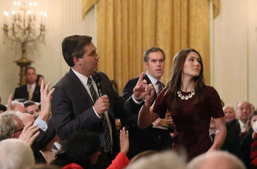 Sarah Sanders promotes an altered video of CNN reporter, sparking allegations of visual propaganda