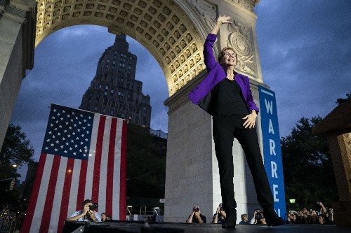 Joe Biden is still ahead. But Elizabeth Warren is closing in.