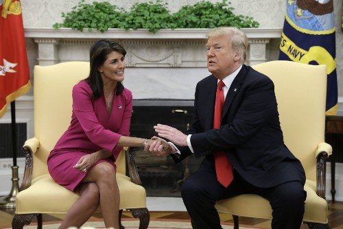 Nikki Haley claims top aides tried to recruit her to 'save the country' by undermining Trump