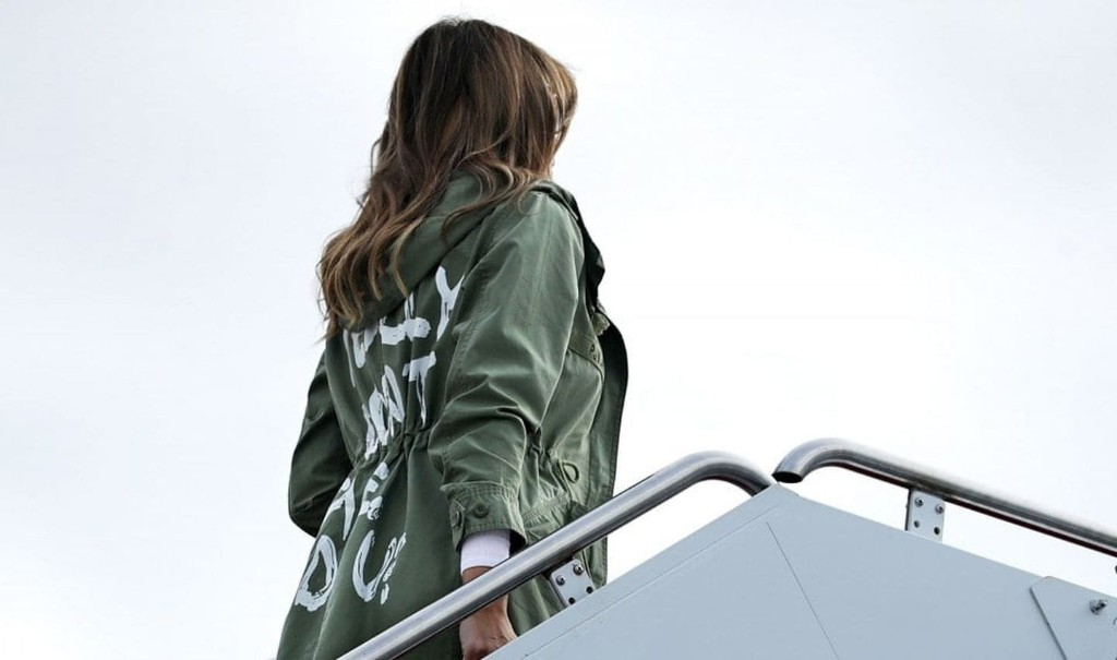 Melania Trump wears the heart of her husband's administration on her sleeve