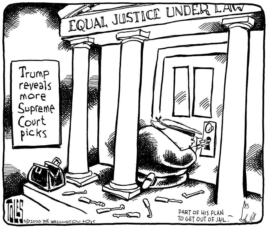 Why is Trump thinking about Supreme Court picks?