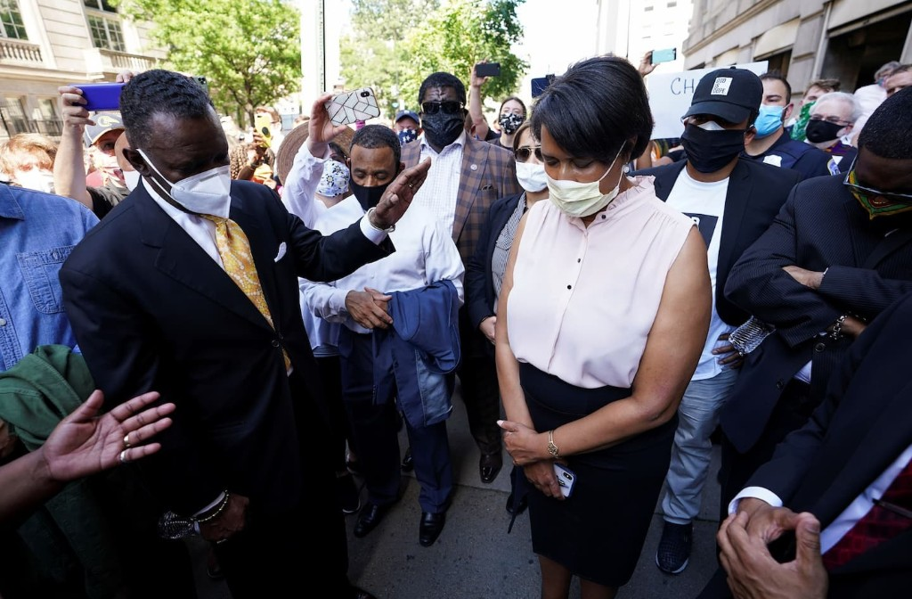 As protests grip Washington, President Trump and D.C. Mayor Bowser clash in contest over control of city streets