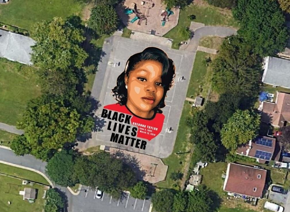 7,000-square-foot mural to honor Breonna Taylor unveiled in Maryland park