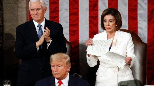 Pelosi ripped up a speech. Trump is ripping up our democracy.