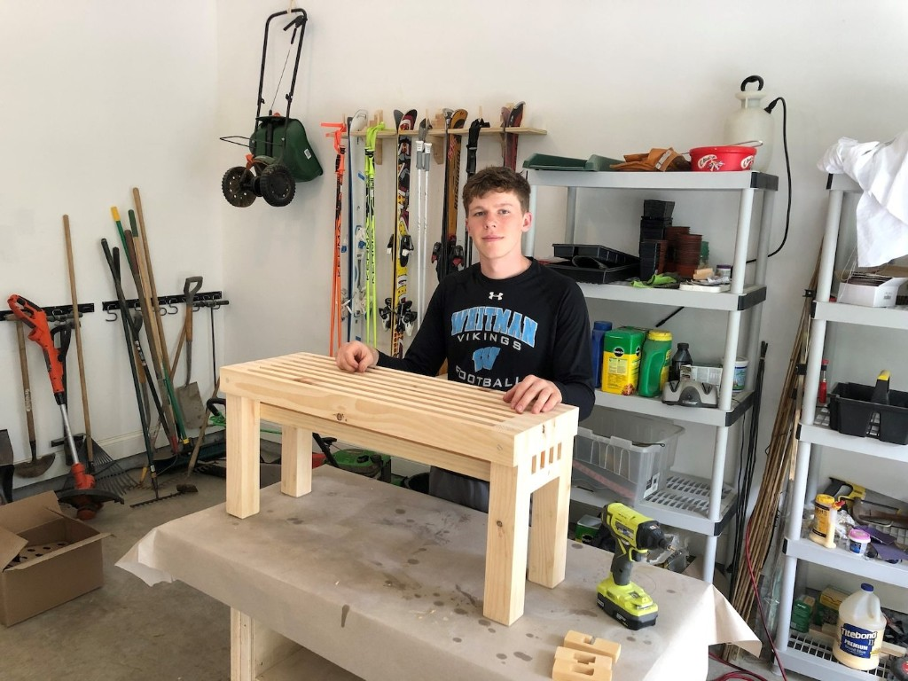 A Maryland teen picked up woodworking during the shutdown. Now he sells his pieces to help the homeless.