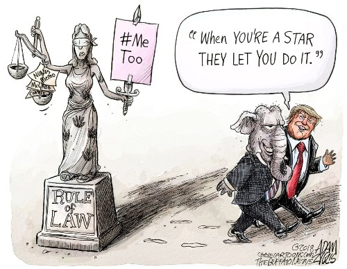 Viral Kavanaugh cartoon powerfully depicts the assault of Lady Justice