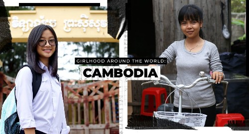 These two girls in Cambodia lead different lives, but share big dreams