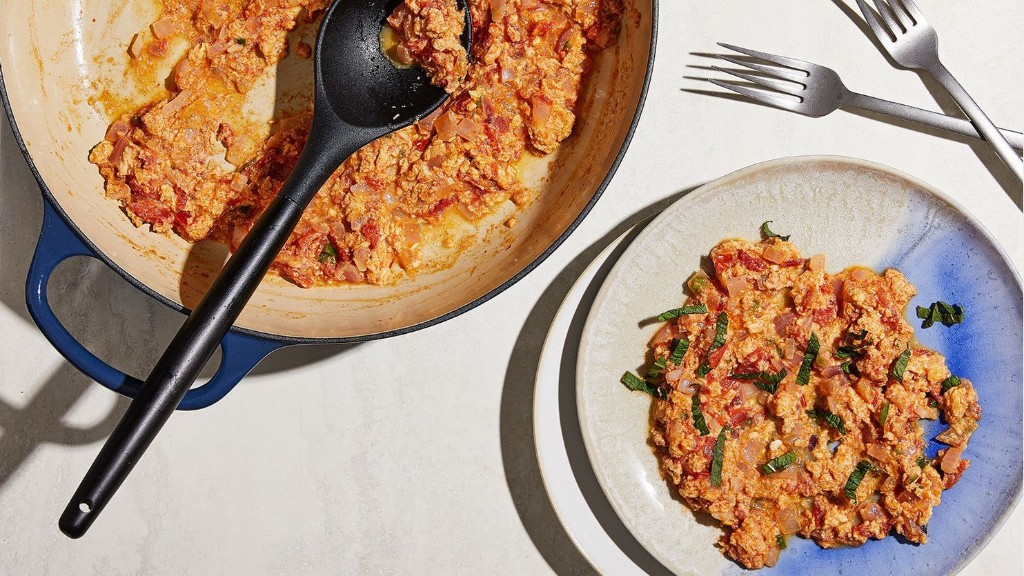 Indian-spiced scrambled eggs are a breakfast-for-dinner hit