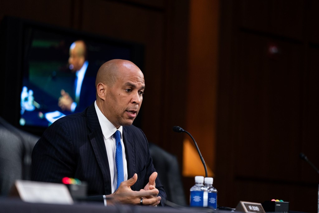 Booker calls House GOP candidate Cawthorn racist over his website accusing senator of working to 'ruin white males'