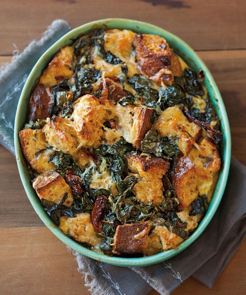 Bread Pudding with Chard, Sun-Dried Tomatoes & Fontina | Williams-Sonoma Taste