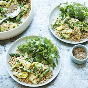 Asparagus Farro Risotto Recipe | Williams Sonoma Taste
