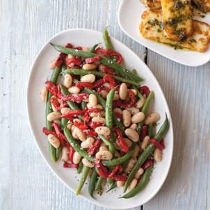 Summer Bean Salad with Fried Halloumi and Pesto | Williams Sonoma Taste
