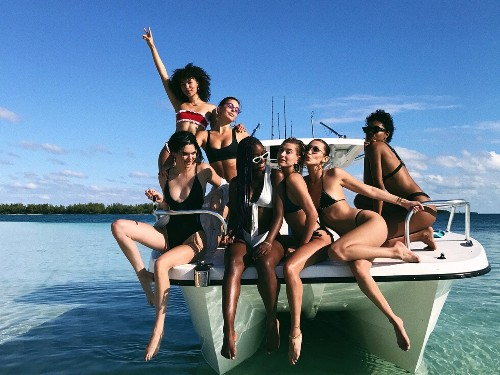 Exclusive: Bella Hadid, Alessandra Ambrosio, and Emily Ratajkowski Take the Bahamas by Storm