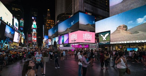 Every Night, Ads Turn into Art in Times Square