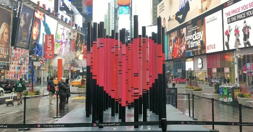 In the Heart of Times Square, A Love Note for Immigrants