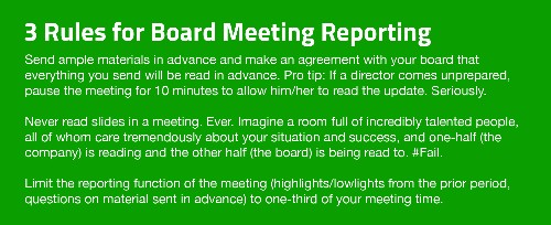 Let's Fix Startup Board Meetings
