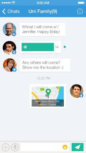 Uni Messenger Is A Cross Platform, Cross Social Network Mobile Messaging App