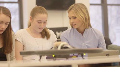 Supermodel Karlie Kloss chats with us about the launch of Kode With Klossy, a coding camp for girls