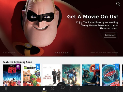 Disney Launches Disney Movies Anywhere, An iTunes-Integrated App Where Fans Can Build Their Movie Library
