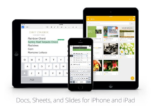 Google Brings Native MS Office Editing Features To Its iOS Productivity Apps, Launches Slides For iOS