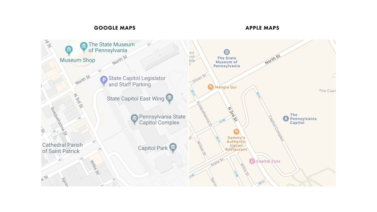In-depth analysis compares quality of Apple's mapping data against Google's, highlights challenges Apple faces to compete