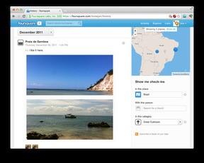 Foursquare、ヒストリーページに自前のタイムライン機能を実装して検索・絞り込みにも対応