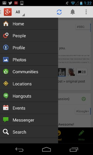 Google+ For Android Swaps Messenger For Hangouts, Integrates With Google Drive & More