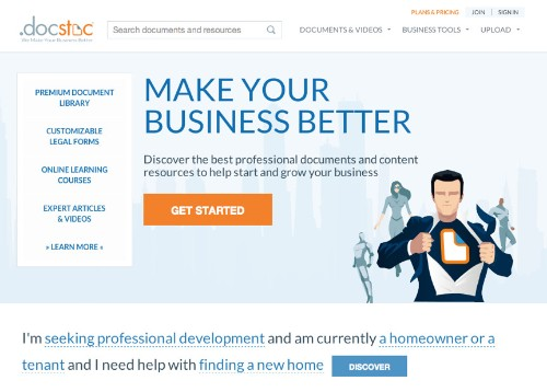 Docstoc Redesigns Its Site To Become The Go-To Place For Small Business Documents
