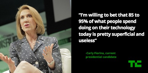 Carly Fiorina: 85-95% Of What We Do Online Is Superficial And Useless