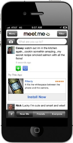Social App MeetMe Introduces In-Feed Advertising With Flurry Partnership