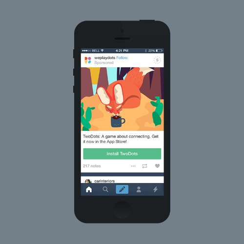Tumblr Rolls Out Mobile App Install Ads In The Form Of Shareable Sponsored Posts