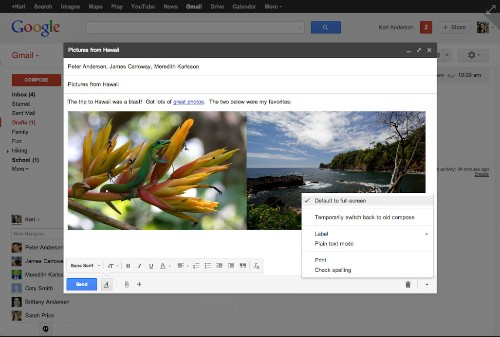 Gmail Offers Full-Screen Compose Again