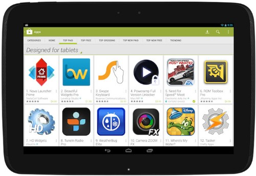 Google's New Plan To Highlight Android Tablet Apps Starts On November 21