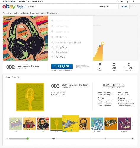 eBay To Host Live Art Auctions On New Site