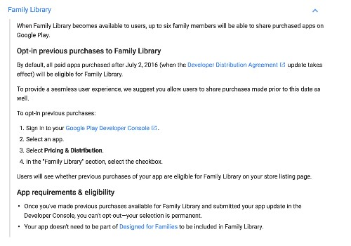 Google Family Library goes live this summer, will allow families to share Google Play purchases