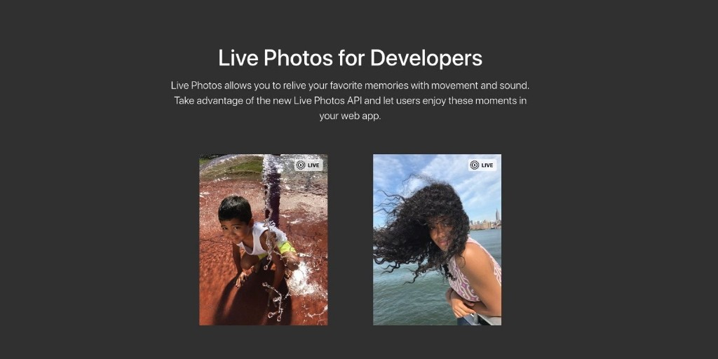 Apple brings Live Photos to the web with new JavaScript API