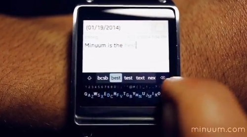 Think Software Keyboards Don't Work On Smartwatches? Check Out Minuum's New Video