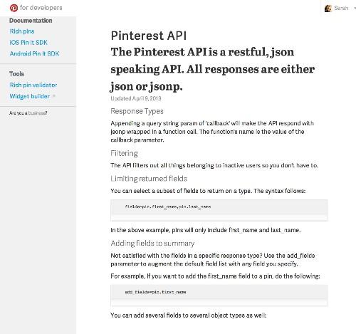 Pinterest API Documentation Briefly Reappears On New Developer Site