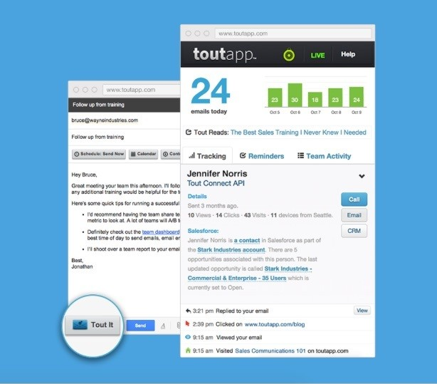 ToutApp Raises $15M To Build Email Tools For Salespeople